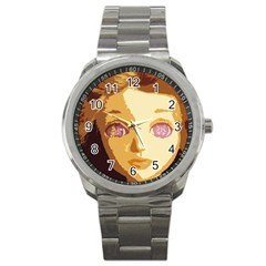 Butterfly Eyes Sport Metal Watch by snowwhitegirl