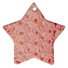 Pink Crochet Star Ornament (two Sides)