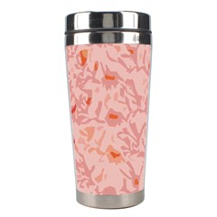 Pink Crochet Stainless Steel Travel Tumblers by snowwhitegirl