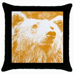 Bear Throw Pillow Case (black)