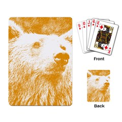 Bear Playing Cards Single Design