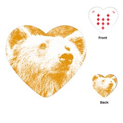 Bear Playing Cards (heart) by snowwhitegirl