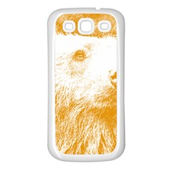 Bear Samsung Galaxy S3 Back Case (white) by snowwhitegirl