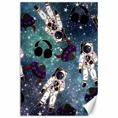 Astronaut Space Galaxy Canvas 12  X 18  by snowwhitegirl