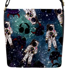 Astronaut Space Galaxy Flap Closure Messenger Bag (s)