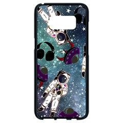 Astronaut Space Galaxy Samsung Galaxy S8 Black Seamless Case