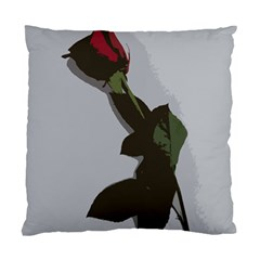 Red Rose Standard Cushion Case (one Side) by snowwhitegirl