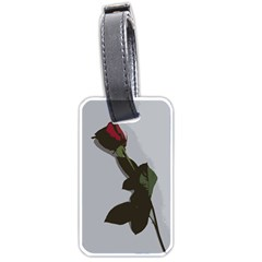 Red Rose Luggage Tags (two Sides)
