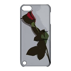 Red Rose Apple Ipod Touch 5 Hardshell Case With Stand by snowwhitegirl