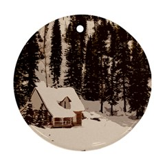 Cottage Ornament (round)
