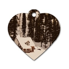 Cottage Dog Tag Heart (one Side)