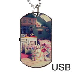 Caravan Dog Tag Usb Flash (one Side) by snowwhitegirl