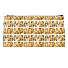 Victorian Girl Labels Pencil Cases by snowwhitegirl