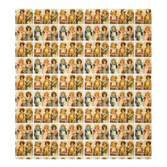 Victorian Girl Labels Shower Curtain 66  X 72  (large)  by snowwhitegirl