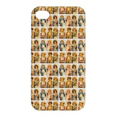 Victorian Girl Labels Apple Iphone 4/4s Hardshell Case