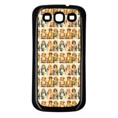 Victorian Girl Labels Samsung Galaxy S3 Back Case (black) by snowwhitegirl
