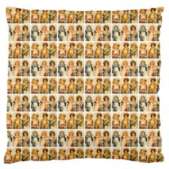 Victorian Girl Labels Standard Flano Cushion Case (one Side) by snowwhitegirl