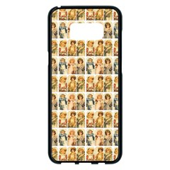 Victorian Girl Labels Samsung Galaxy S8 Plus Black Seamless Case