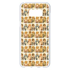 Victorian Girl Labels Samsung Galaxy S8 Plus White Seamless Case