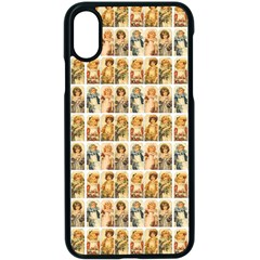 Victorian Girl Labels Apple Iphone X Seamless Case (black) by snowwhitegirl
