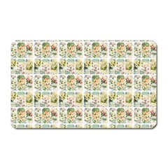 Victorian Flower Labels Magnet (rectangular) by snowwhitegirl