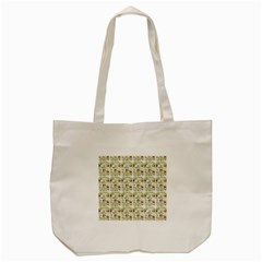 Victorian Flower Labels Tote Bag (cream)