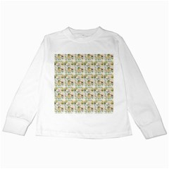Victorian Flower Labels Kids Long Sleeve T Shirts