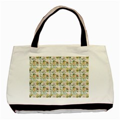 Victorian Flower Labels Basic Tote Bag