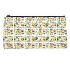 Victorian Flower Labels Pencil Cases by snowwhitegirl