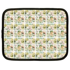 Victorian Flower Labels Netbook Case (xxl) by snowwhitegirl