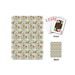 Victorian Flower Labels Playing Cards (mini)