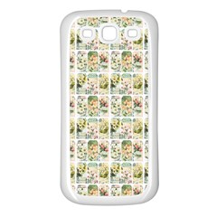 Victorian Flower Labels Samsung Galaxy S3 Back Case (white) by snowwhitegirl