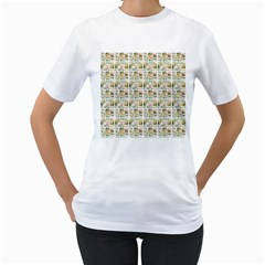 Victorian Flower Labels Women s T Shirt (white)
