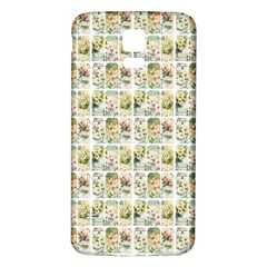 Victorian Flower Labels Samsung Galaxy S5 Back Case (white)