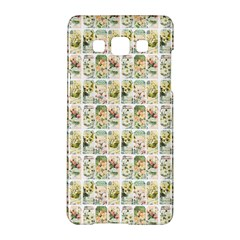 Victorian Flower Labels Samsung Galaxy A5 Hardshell Case