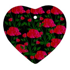 Roses At Night Ornament (heart)