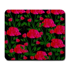Roses At Night Large Mousepads