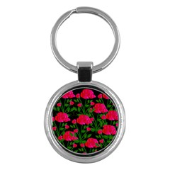 Roses At Night Key Chains (round)