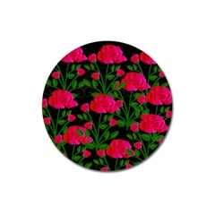 Roses At Night Magnet 3  (round)