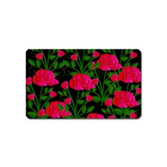 Roses At Night Magnet (name Card)