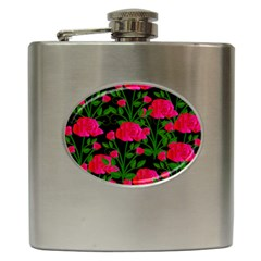 Roses At Night Hip Flask (6 Oz)