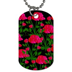 Roses At Night Dog Tag (two Sides) by snowwhitegirl