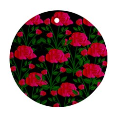 Roses At Night Round Ornament (two Sides)