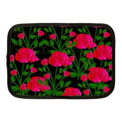 Roses At Night Netbook Case (medium)