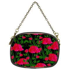 Roses At Night Chain Purse (two Sides)