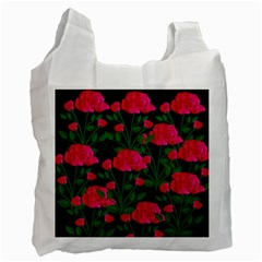Roses At Night Recycle Bag (one Side)