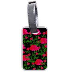 Roses At Night Luggage Tags (one Side)