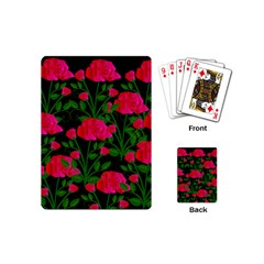 Roses At Night Playing Cards (mini)