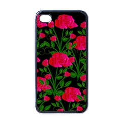 Roses At Night Apple Iphone 4 Case (black)