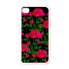 Roses At Night Apple Iphone 4 Case (white)